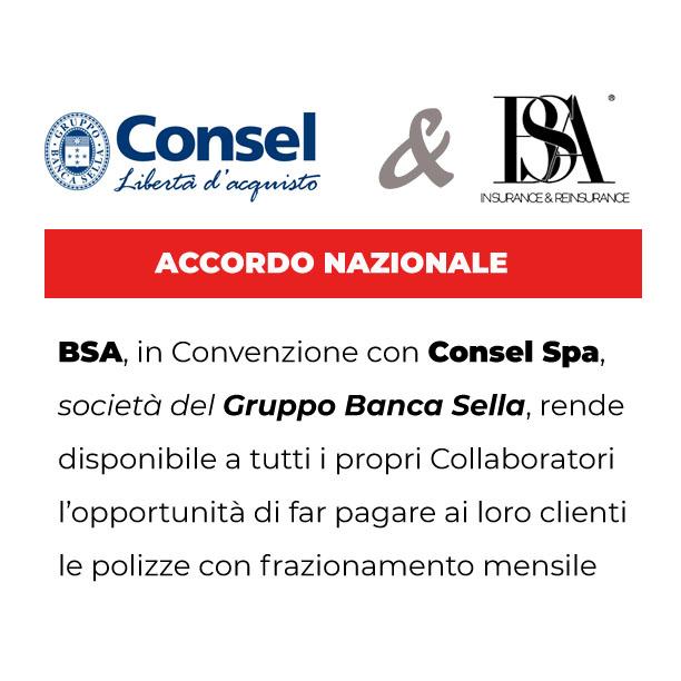 Nuova Convenzione tra BSA e Consel Spa